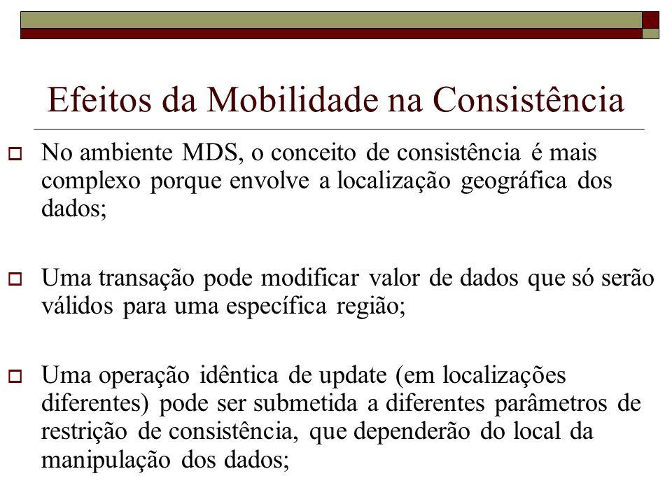 Efeitos da Mobilidade na Consistência