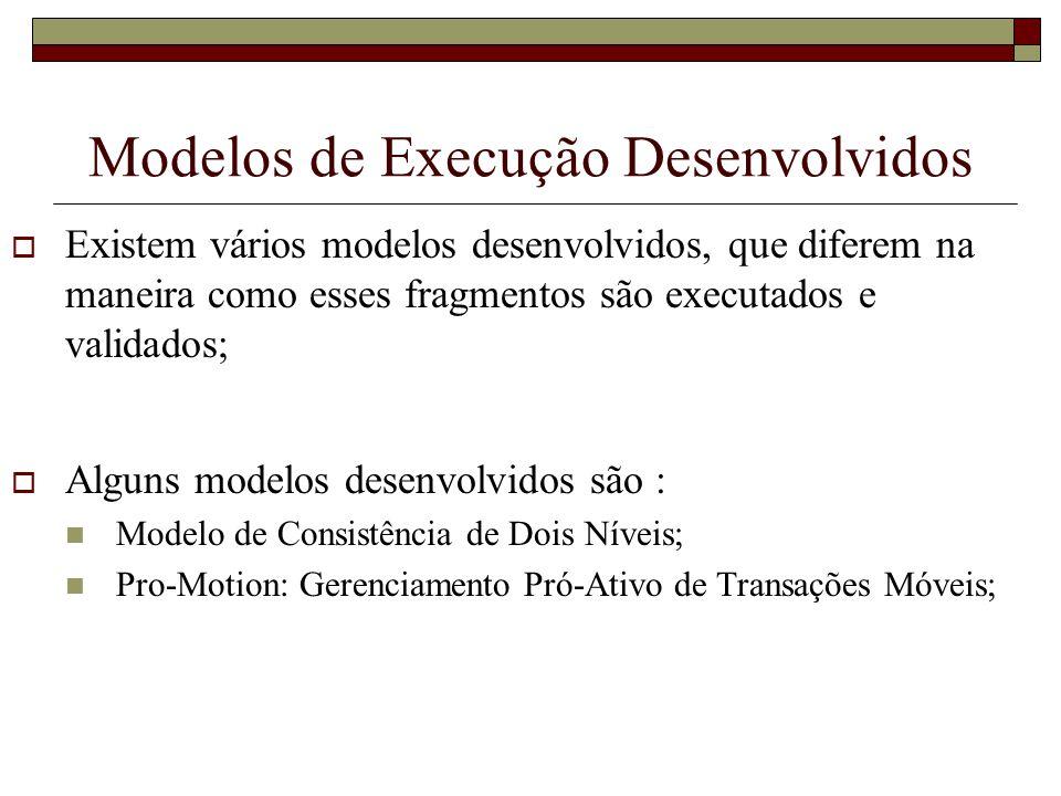 Modelos de Execução Desenvolvidos