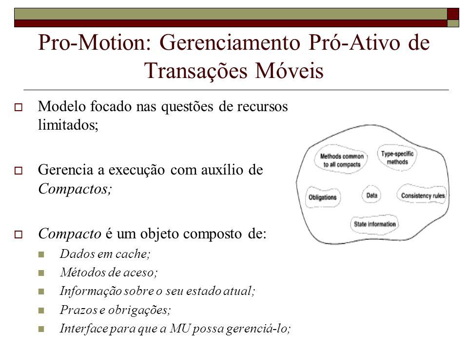 Pro-Motion: Gerenciamento Pró-Ativo de Transações Móveis
