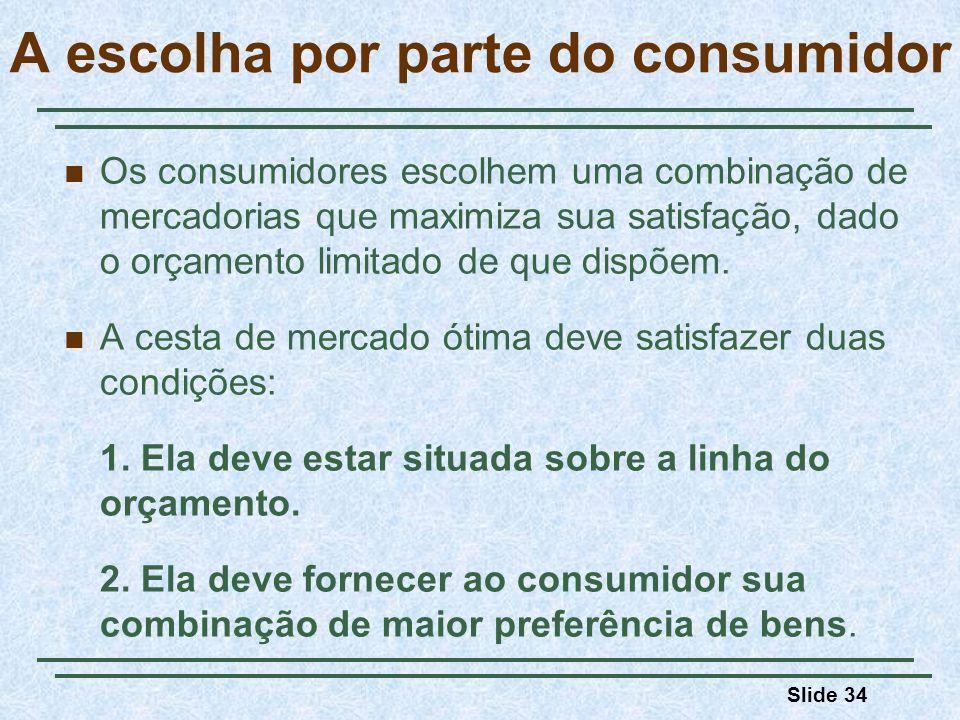 A escolha por parte do consumidor