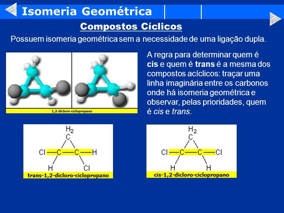 Isomeria Geométrica Compostos Cíclicos