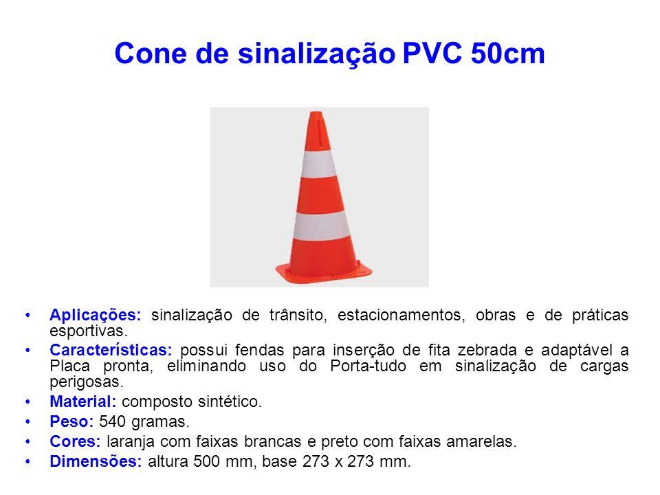Cone de sinalização PVC 50cm