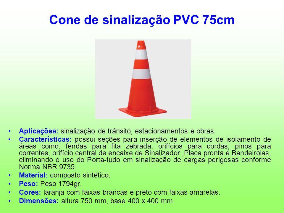 Cone de sinalização PVC 75cm