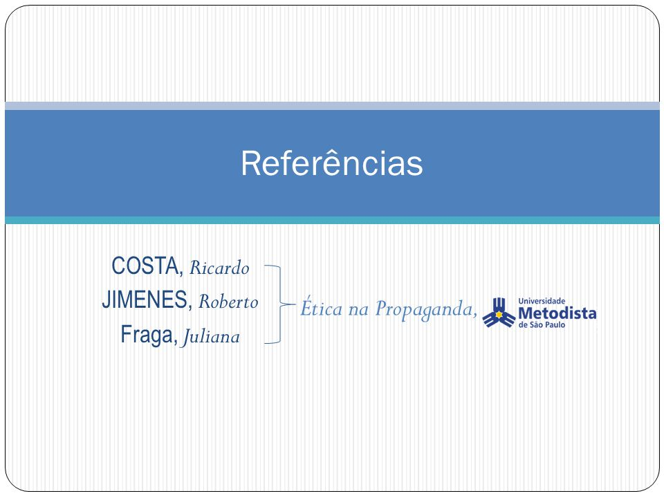 COSTA, Ricardo JIMENES, Roberto Fraga, Juliana