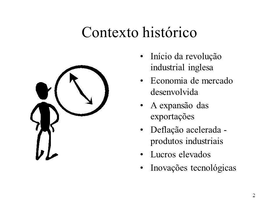 Contexto histórico Início da revolução industrial inglesa