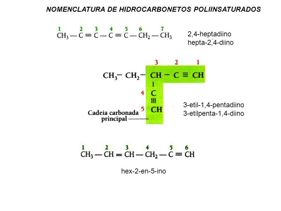 NOMENCLATURA DE HIDROCARBONETOS POLIINSATURADOS