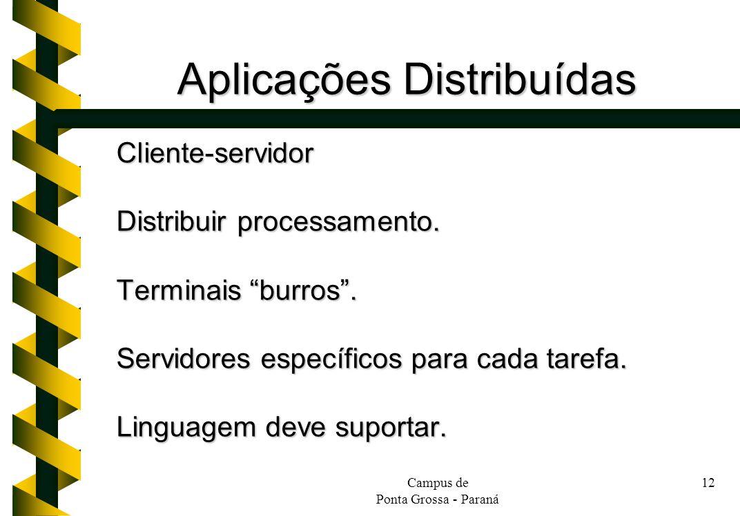 Aplicações Distribuídas