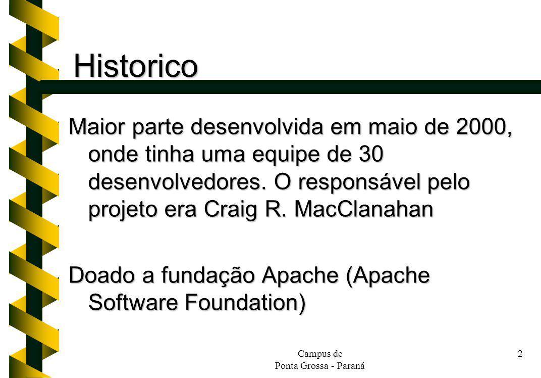 Historico Maior parte desenvolvida em maio de 2000, onde tinha uma equipe de 30 desenvolvedores. O responsável pelo projeto era Craig R. MacClanahan.