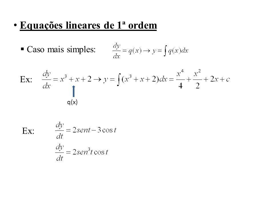 Equações lineares de 1ª ordem