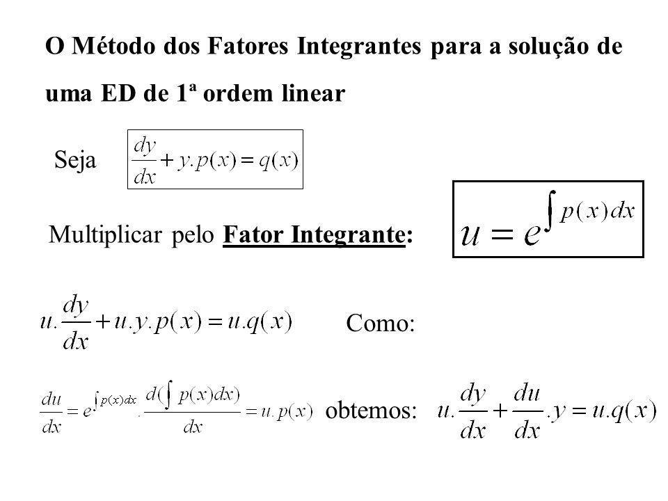 O Método dos Fatores Integrantes para a solução de