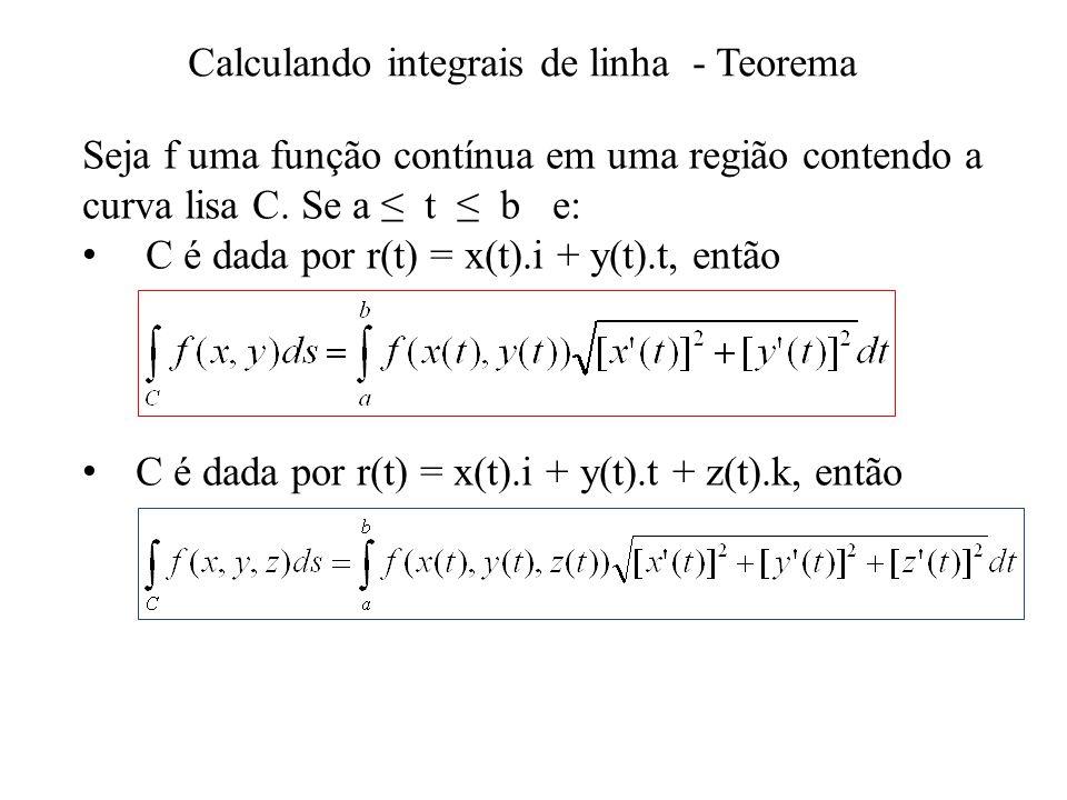 Calculando integrais de linha - Teorema