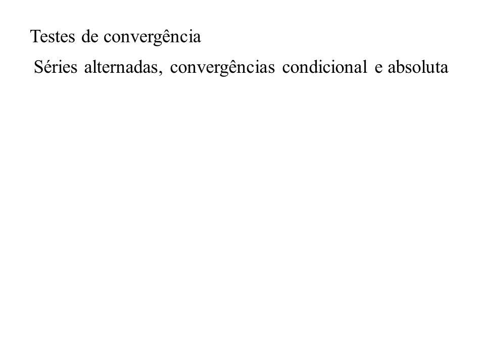 Testes de convergência