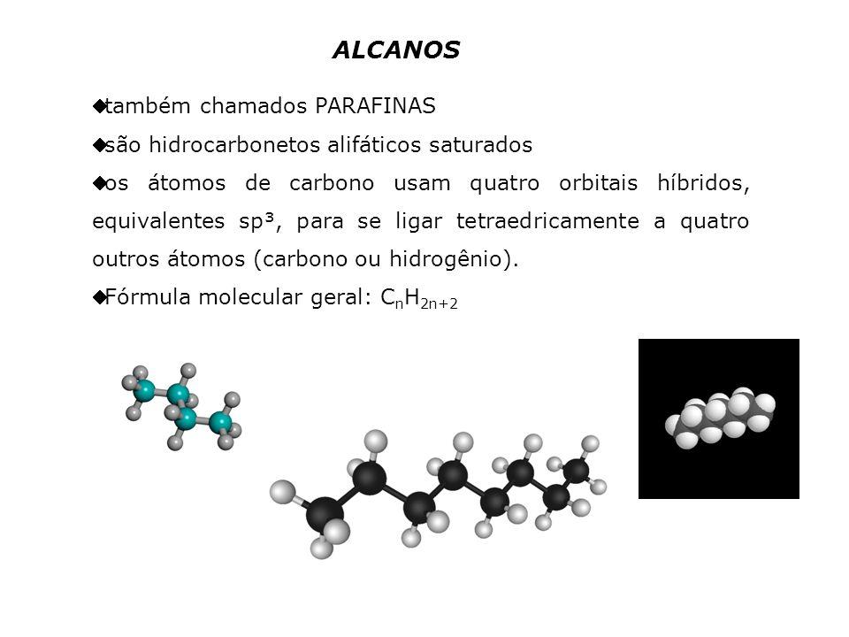 ALCANOS também chamados PARAFINAS