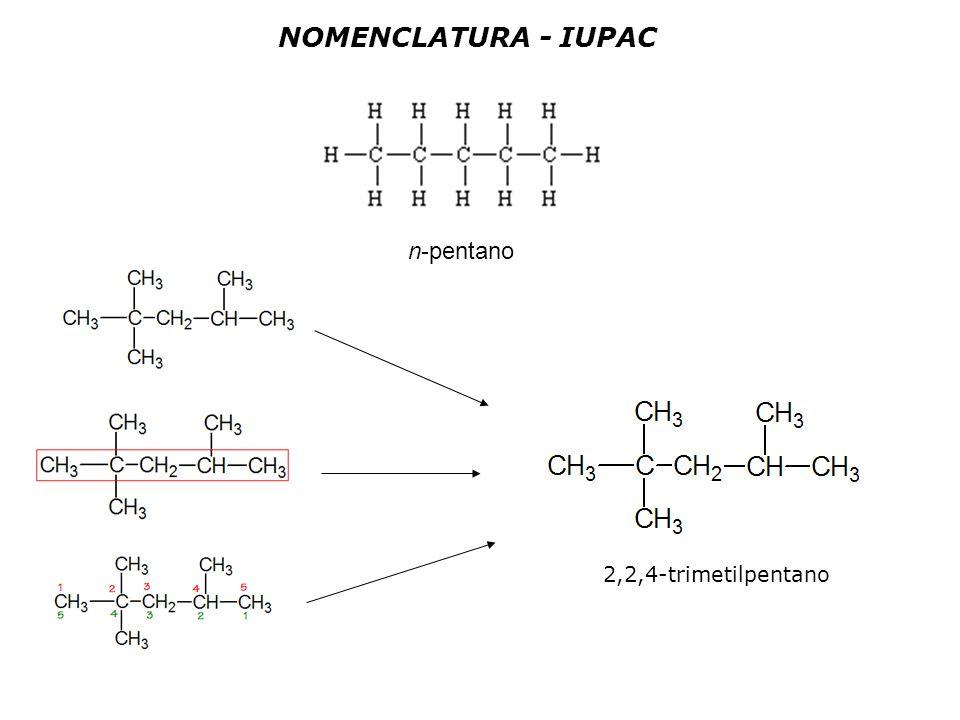 NOMENCLATURA - IUPAC n-pentano 2,2,4-trimetilpentano