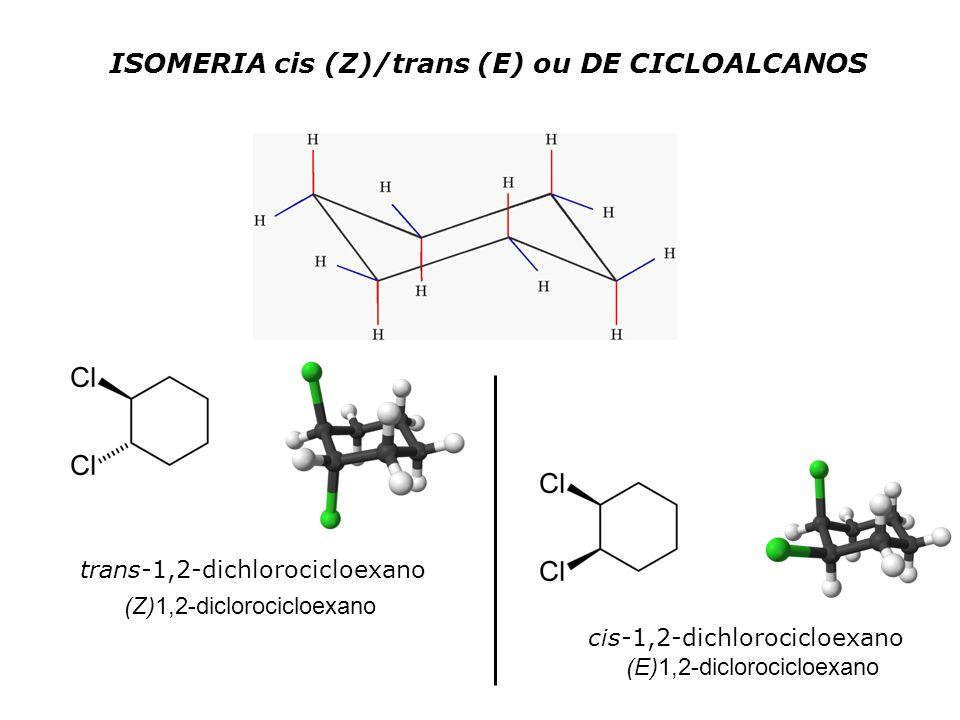 ISOMERIA cis (Z)/trans (E) ou DE CICLOALCANOS