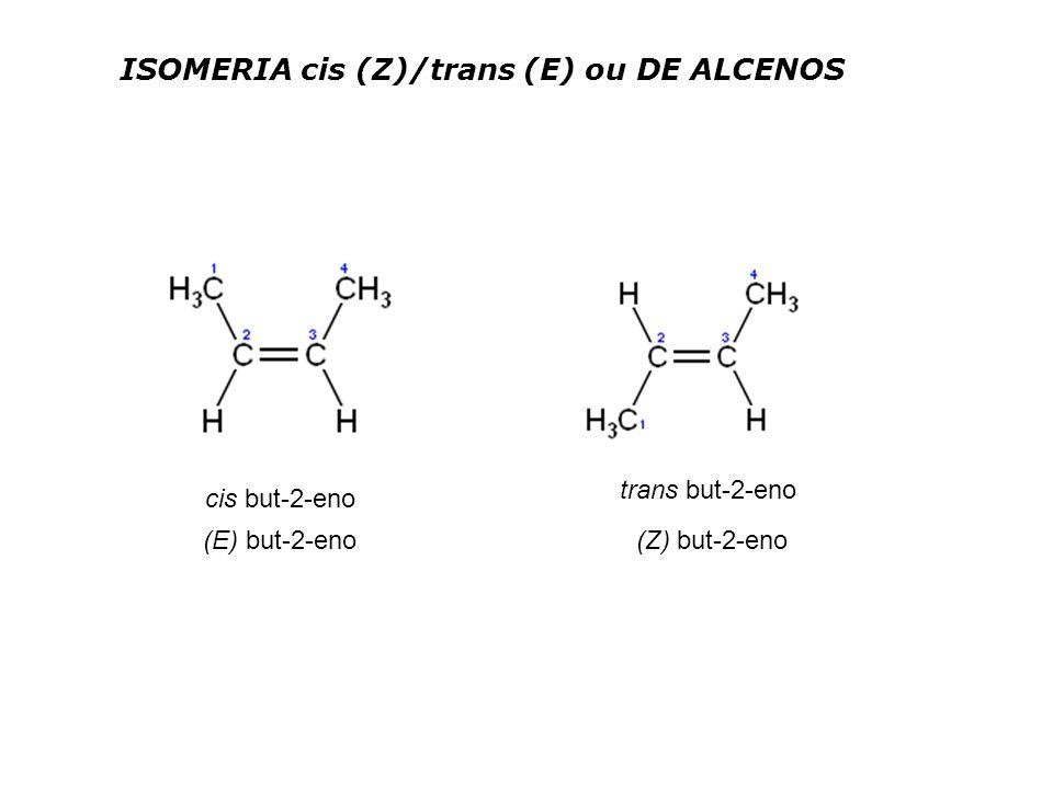 ISOMERIA cis (Z)/trans (E) ou DE ALCENOS