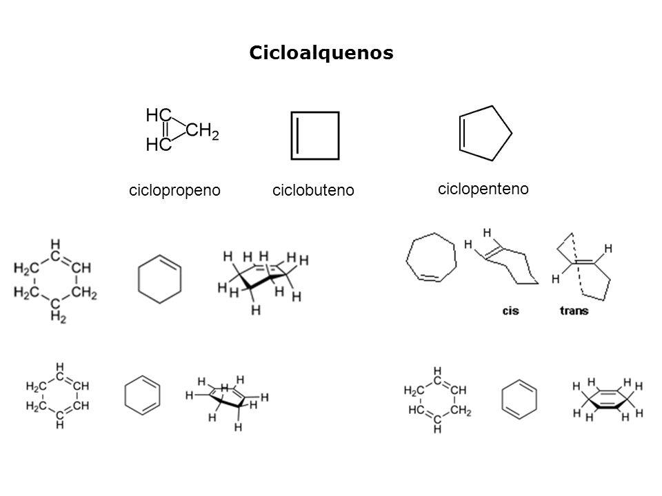 Cicloalquenos ciclopropeno ciclobuteno ciclopenteno