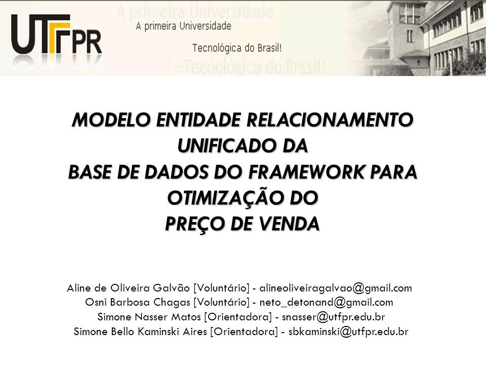 MODELO ENTIDADE RELACIONAMENTO UNIFICADO DA BASE DE DADOS DO FRAMEWORK PARA OTIMIZAÇÃO DO PREÇO DE VENDA