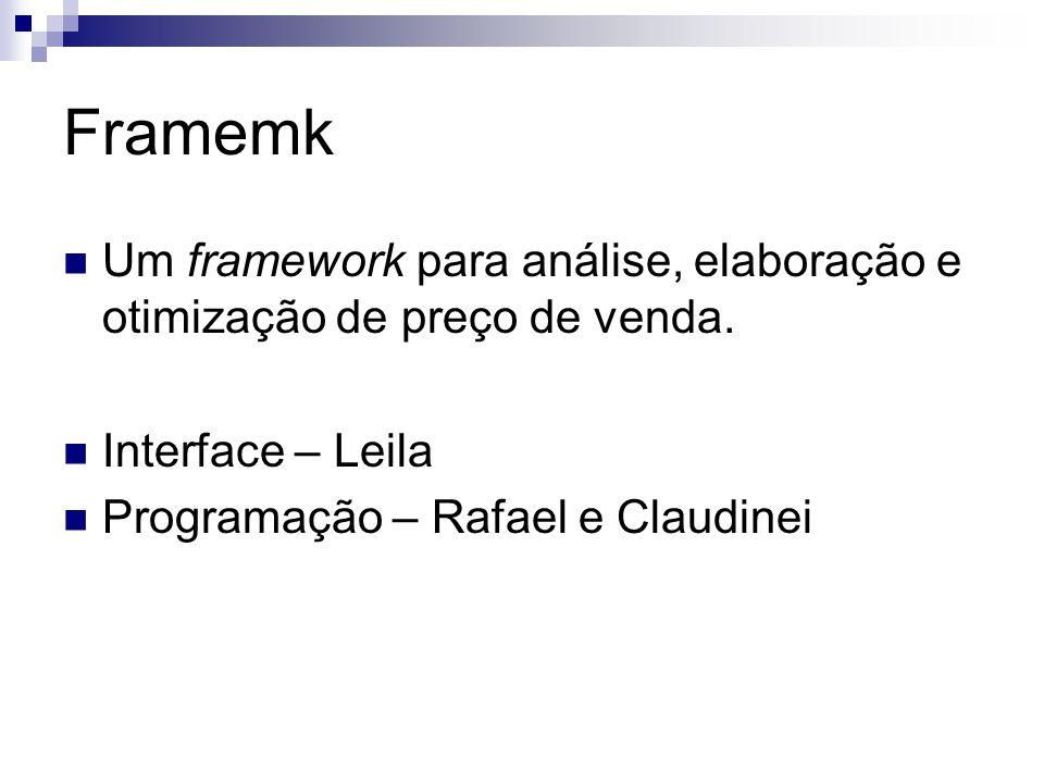 Framemk Um framework para análise, elaboração e otimização de preço de venda.