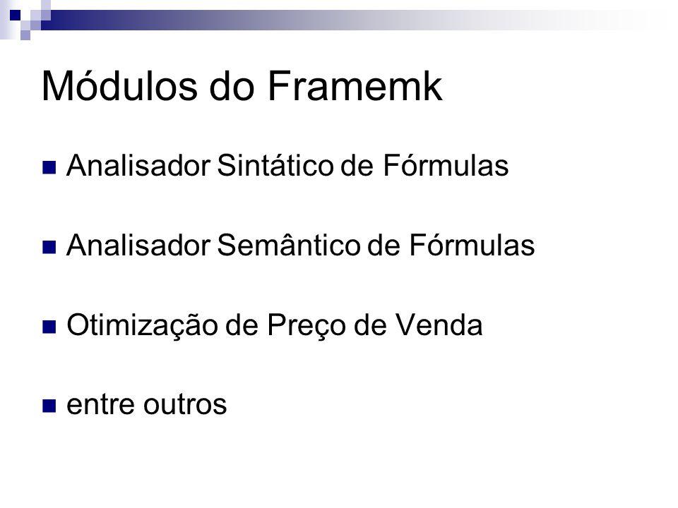 Módulos do Framemk Analisador Sintático de Fórmulas