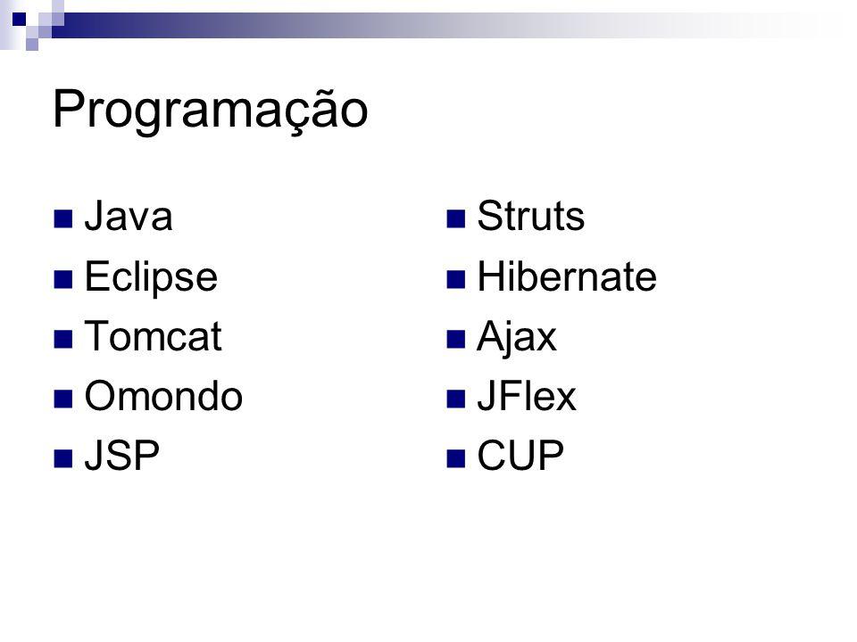 Programação Java Eclipse Tomcat Omondo JSP Struts Hibernate Ajax JFlex