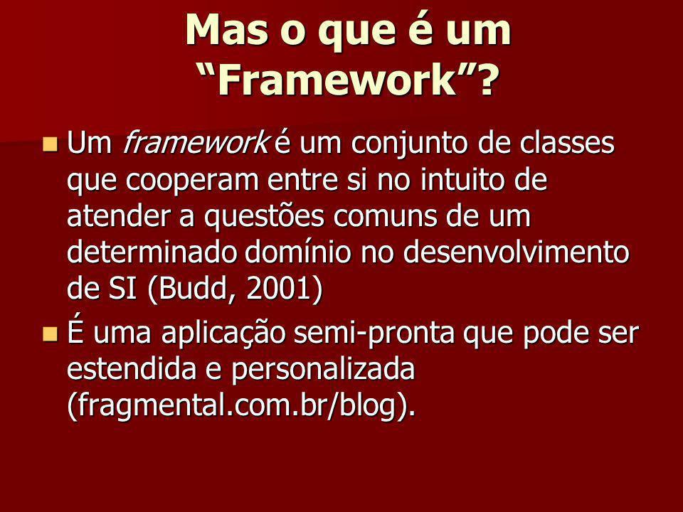 Mas o que é um Framework