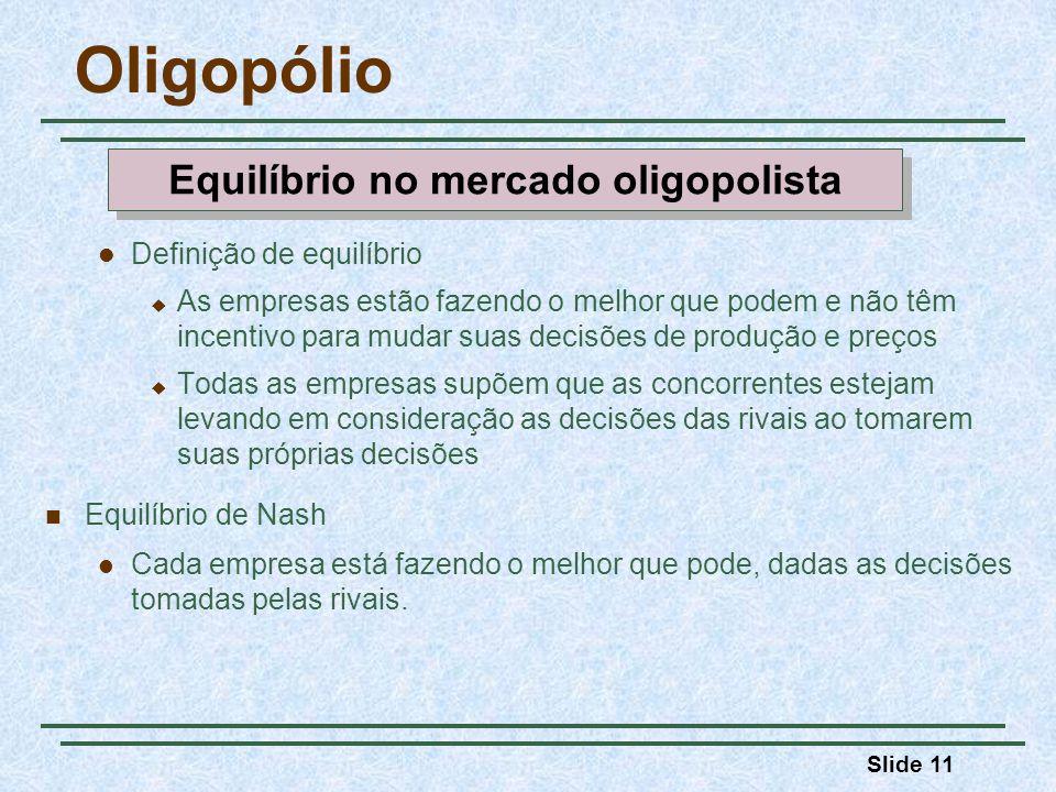 Equilíbrio no mercado oligopolista