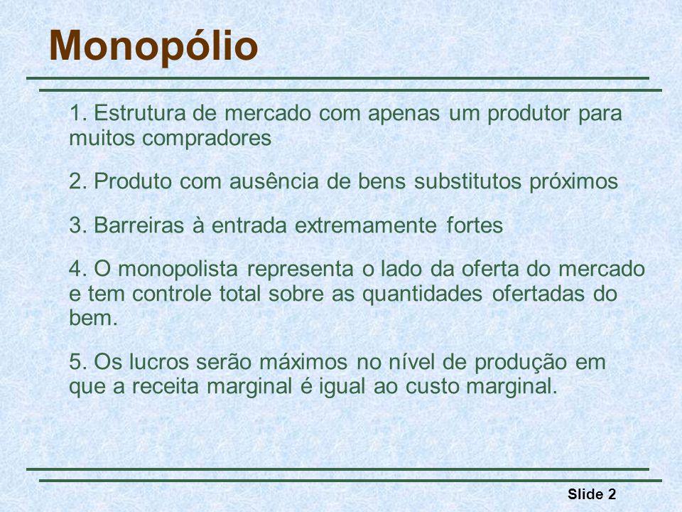 Monopólio 2. Produto com ausência de bens substitutos próximos