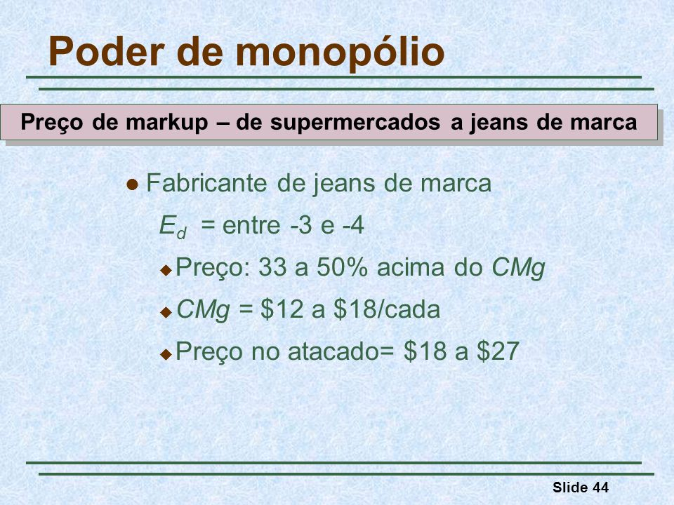 Preço de markup – de supermercados a jeans de marca
