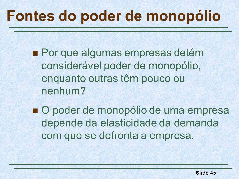 Fontes do poder de monopólio