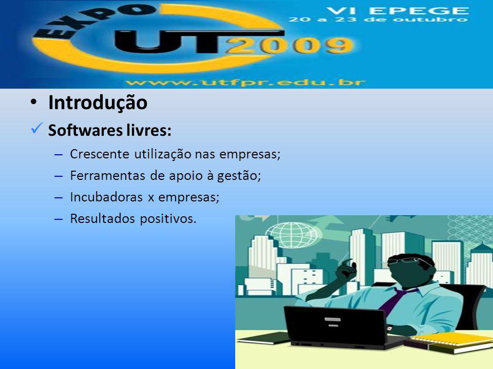 Introdução Softwares livres: Crescente utilização nas empresas;