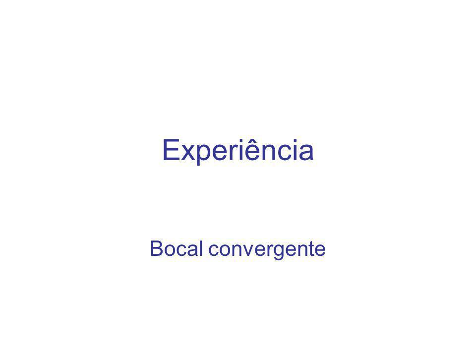 Experiência Bocal convergente