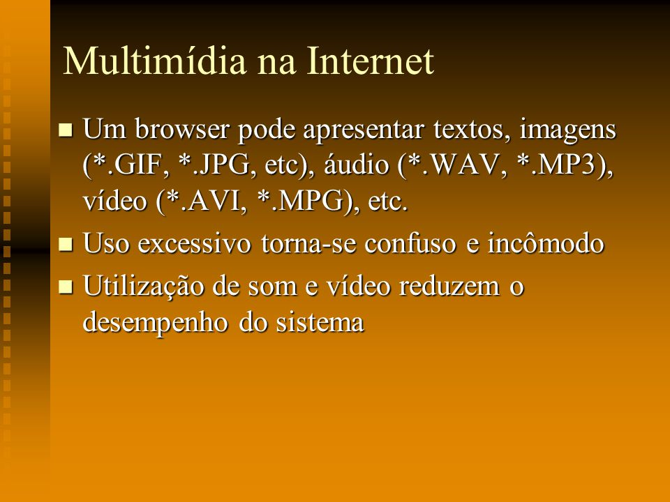 Multimídia na Internet