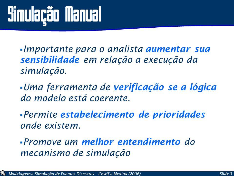 Simulação Manual Importante para o analista aumentar sua sensibilidade em relação a execução da simulação.