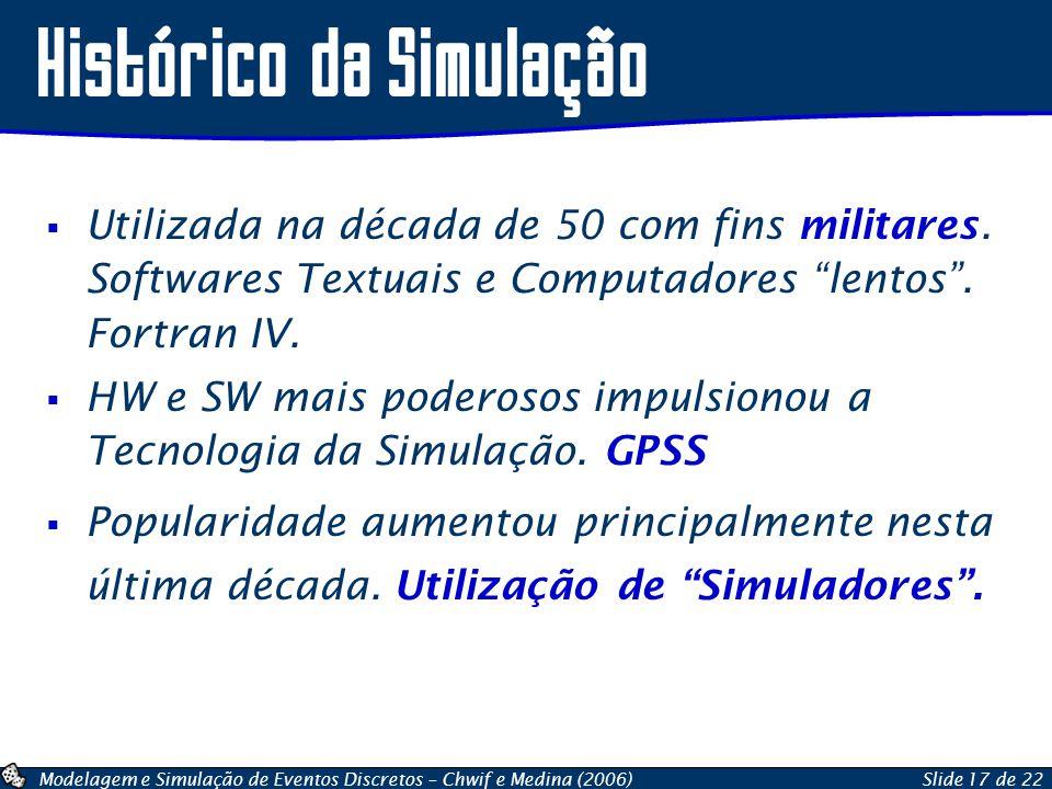 Histórico da Simulação