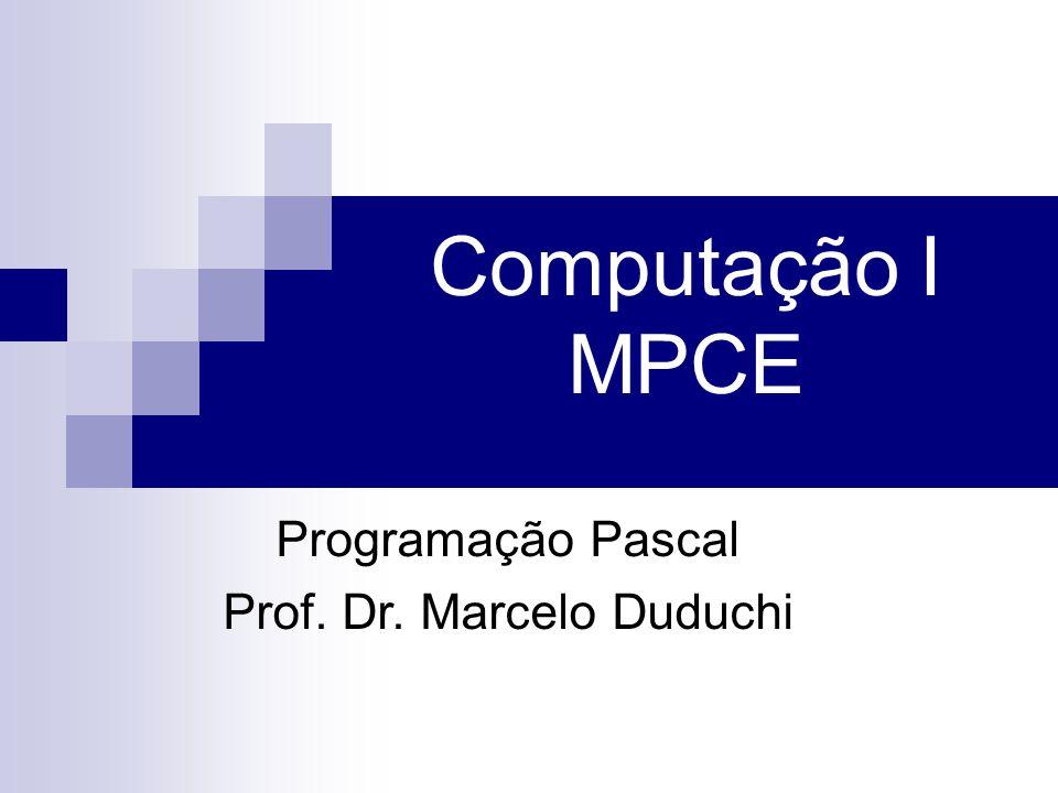 Prof. Dr. Marcelo Duduchi