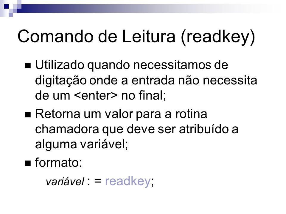 Comando de Leitura (readkey)