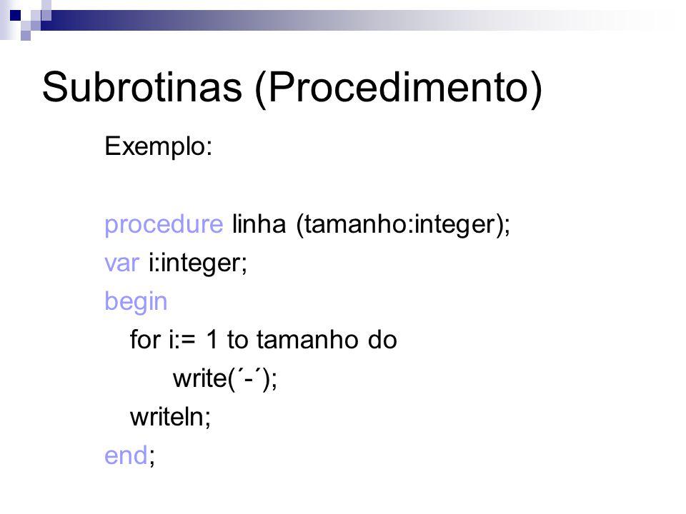Subrotinas (Procedimento)