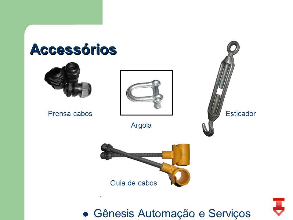 Accessórios Prensa cabos Esticador Argola Guia de cabos