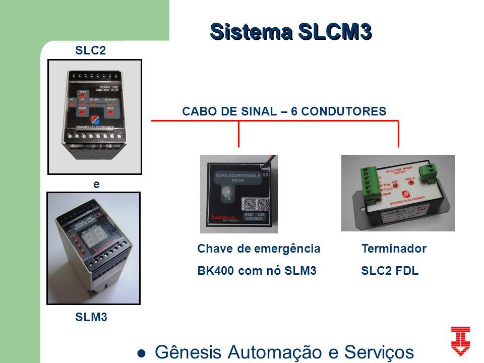 Sistema SLCM3 SLC2 CABO DE SINAL – 6 CONDUTORES e Chave de emergência
