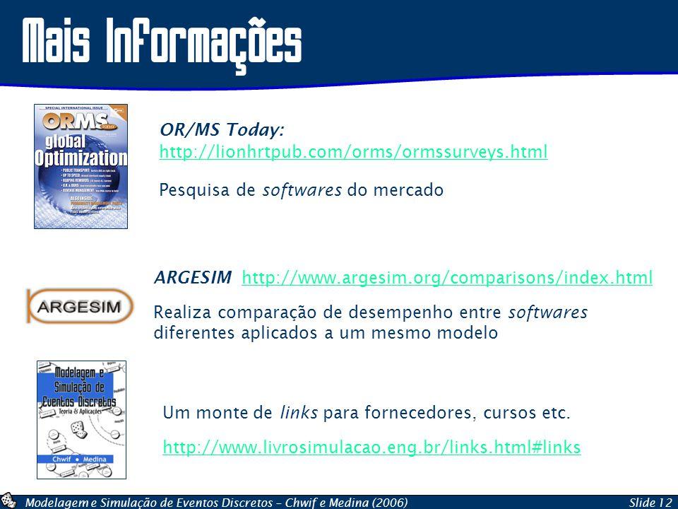 Mais Informações OR/MS Today: http://lionhrtpub.com/orms/ormssurveys.html. Pesquisa de softwares do mercado.
