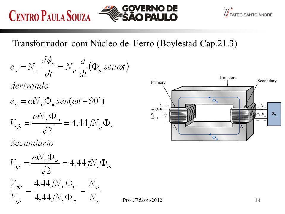 Transformador com Núcleo de Ferro (Boylestad Cap.21.3)