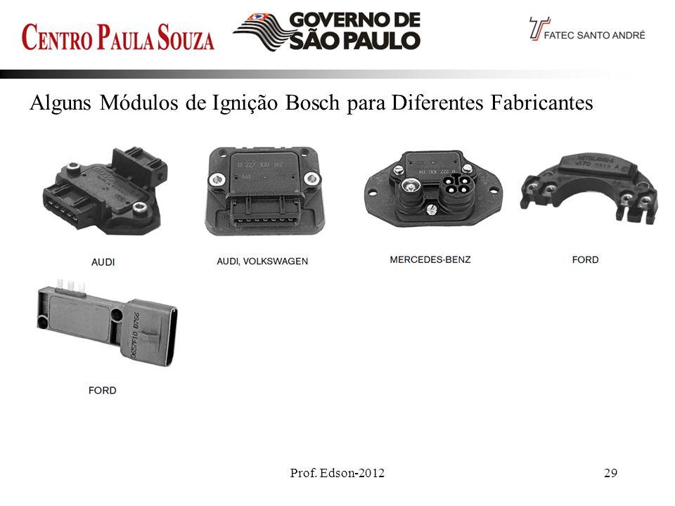 Alguns Módulos de Ignição Bosch para Diferentes Fabricantes