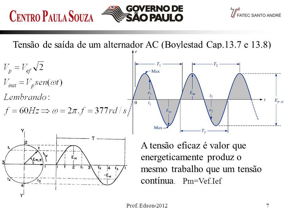 Tensão de saída de um alternador AC (Boylestad Cap.13.7 e 13.8)_