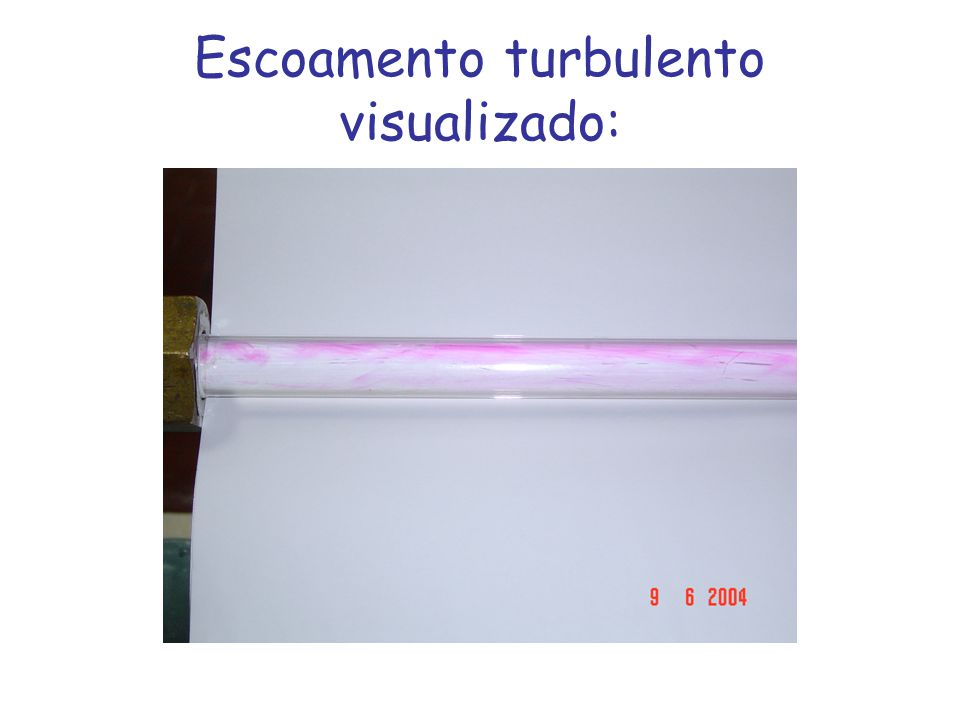 Escoamento turbulento visualizado:
