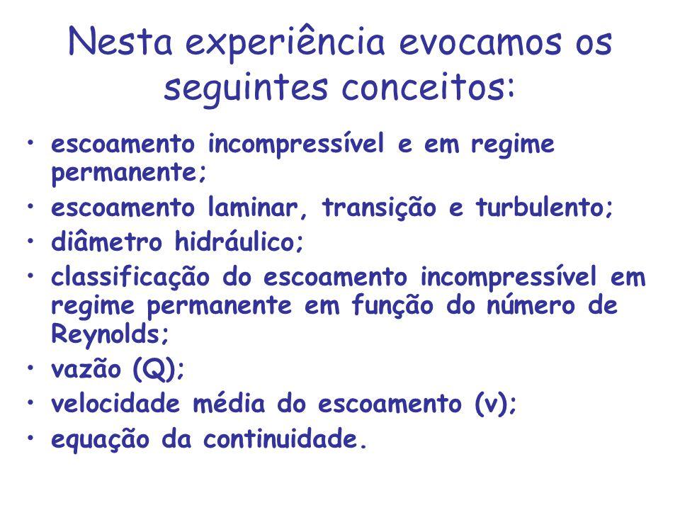 Nesta experiência evocamos os seguintes conceitos: