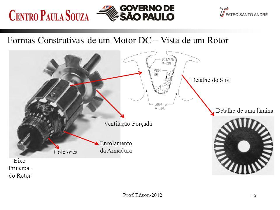 Formas Construtivas de um Motor DC – Vista de um Rotor