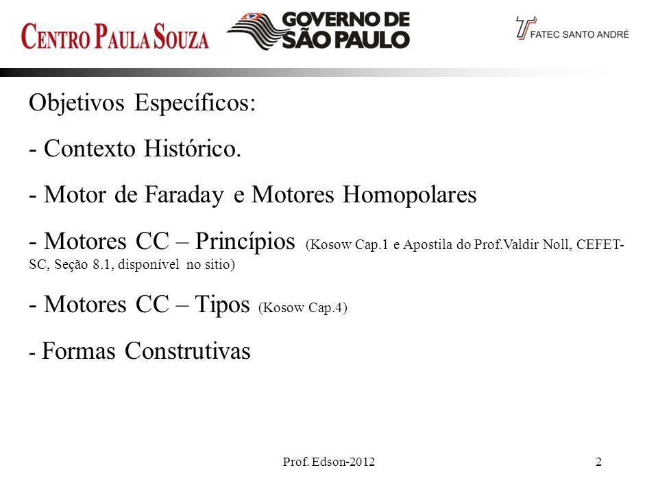 Objetivos Específicos: - Contexto Histórico.