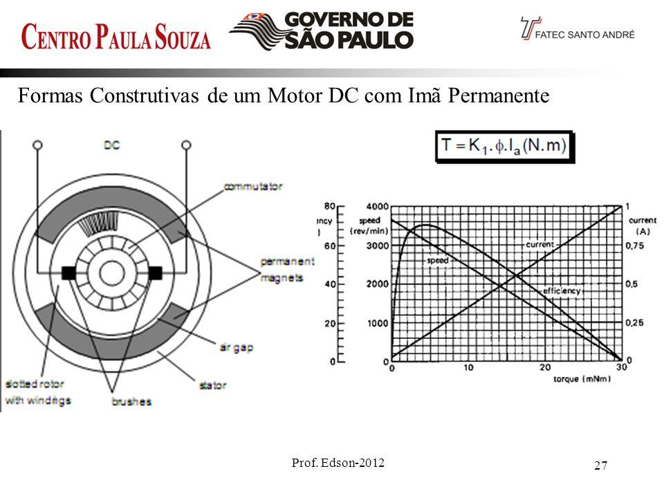 Formas Construtivas de um Motor DC com Imã Permanente