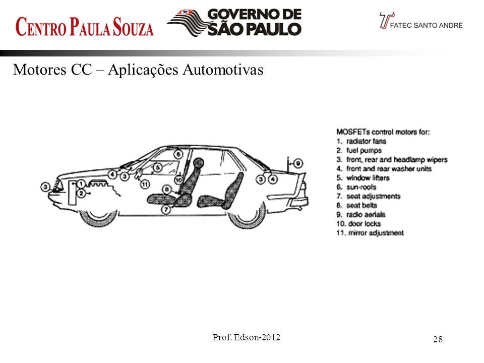 Motores CC – Aplicações Automotivas
